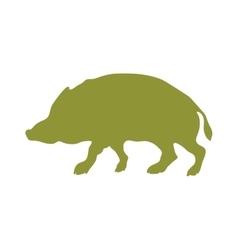 Wild boar animal flat silhouette vector image