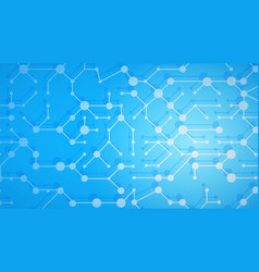 abstract background of connecting lines and dots vector image
