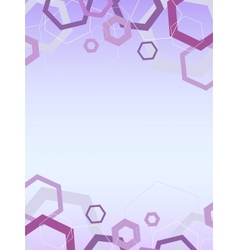 abstract hexagon hi-tech pattern background vector image