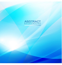 abstract light and smooth flow blue background vector image