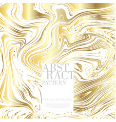 Abstract pop art pattern marble element gold vector