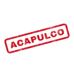 Acapulco Text Rubber Stamp vector image