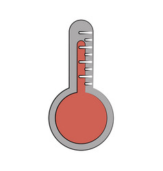 analog thermometer icon image vector image