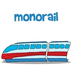 Art of monorail hand draw vector