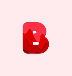 B blood font template design vector