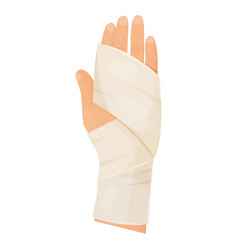 Bandaged and injured or broken hand protection vector