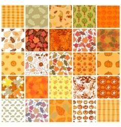 Bundle of Seamless autumn backgrounds vector