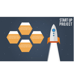 business infographic start up project style vector image