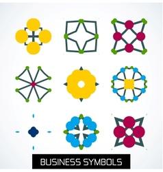 Business symbols icon set Geometric concept vector