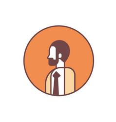 businessman avatar profile business man office vector image