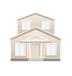 cartoon house isolated on white background vector image