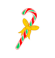 Christmas candy cane gift vector