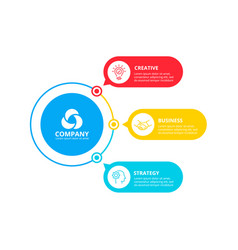 circles elements for infographic with 3 vector image