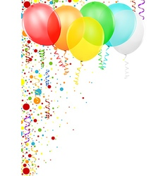 Confetti and Party Balloons vector