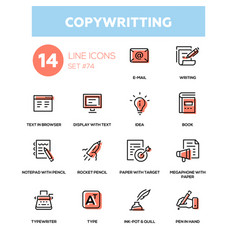 copywriting - line design icons set vector image