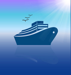 cruise travel icon background vector image