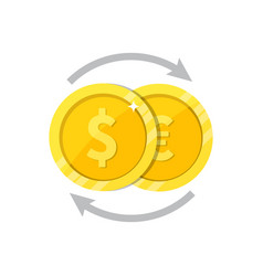 currency exchange symbol flat vector image vector image