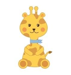 cute giraffe isolated icon design vector image