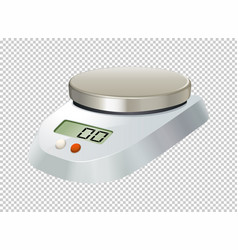 digital scale with flat plate vector image