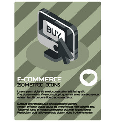 e-commerce color isometric poster vector image