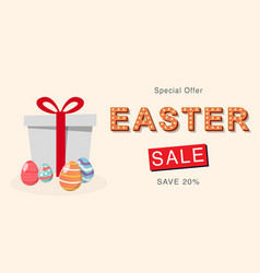 easter sale banner design and template vector image