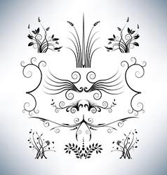 Elegant floral designs vector