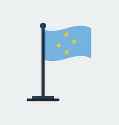 Flag micronesiaflag stand vector