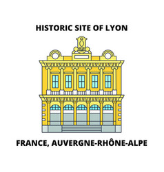 France auvergne-rhone-alpe - historic site of vector