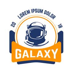 galaxy isolated emblem space and aeronautics vector image