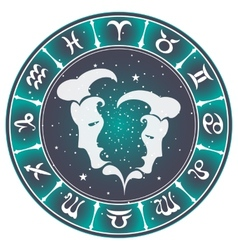 Gemini zodiac sign vector