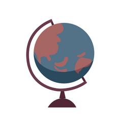 globe flat vector image