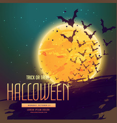 Halloween background with flyeing bats vector