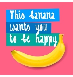 Happy banana background vector image