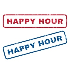 Happy Hour Rubber Stamps vector