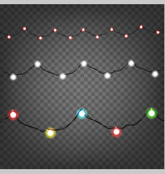 Holiday light garlands clipart isolated on vector