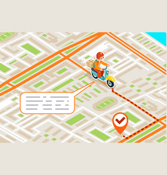isometric delivery city street road map urban vector image