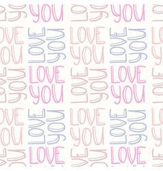 Love you seamless pattern vector