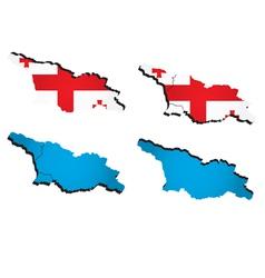 map of Georgia vector image