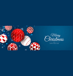 Merry christmas and happy new year holiday xmas vector