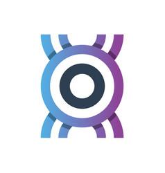 monogram logo letter ho vector image