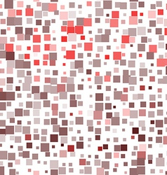 Mosaic red seamless pattern on white background vector