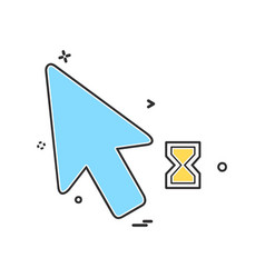 mouse pointer icon design vector image