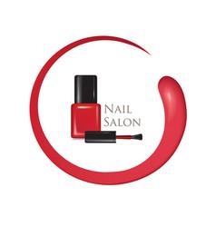 Nail beauty salon background manicure polish vector