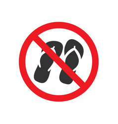 no sandals sign vector image