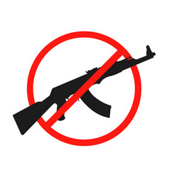 no war icon isolated no gun icon banner vector image