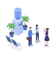 office workers isometric color vector image