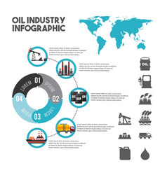 oil industry infographic elements with charts vector image