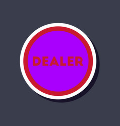 Paper sticker on stylish background poker chip vector