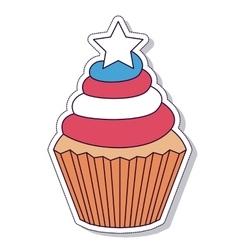 patriotic cupcake isolated icon design vector image