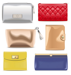 Purse icons vector